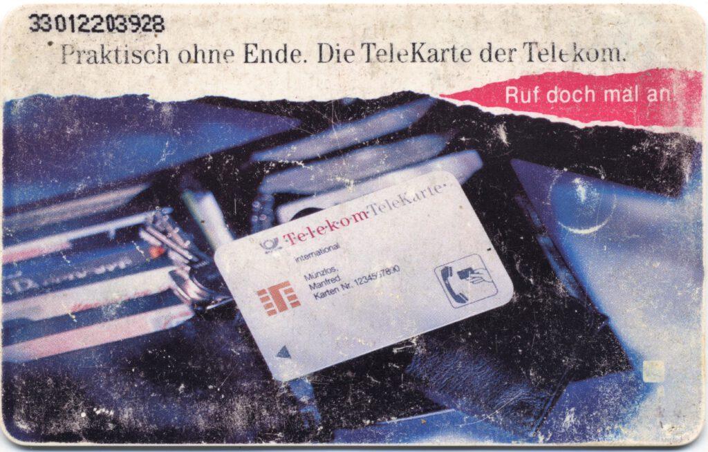 Rückseite einer 50 DM Telefonkarte
